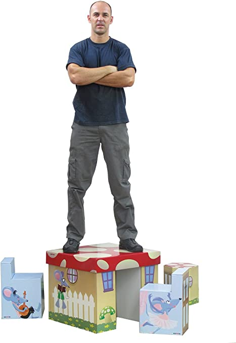 Amazon Com Krooom Kids 3 Piece Table And Chair Set Furniture Decor