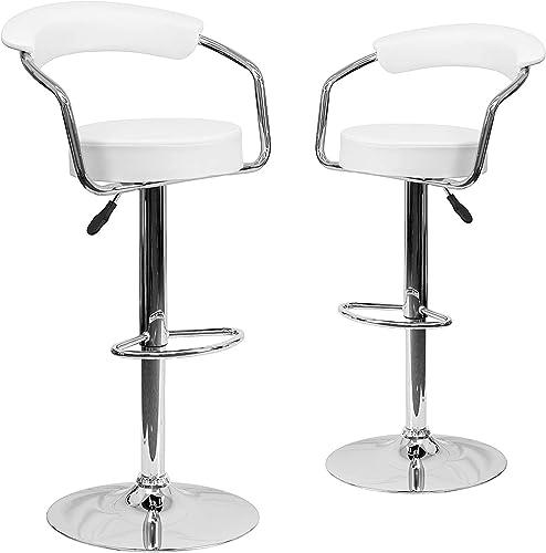 Adjustable Round Bar stools Set of 2 360 Degree Swivel bar stool