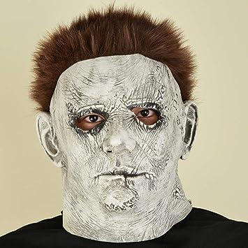 FFSMCQ Máscara Facial Completa Máscara De Halloween Máscara Aterradora Máscara De Terror Mascarada Juego De Roles Media Cara Boca Personalidad Creativo Juego Fresco Decoración Regalo B: Amazon.es: Juguetes y juegos