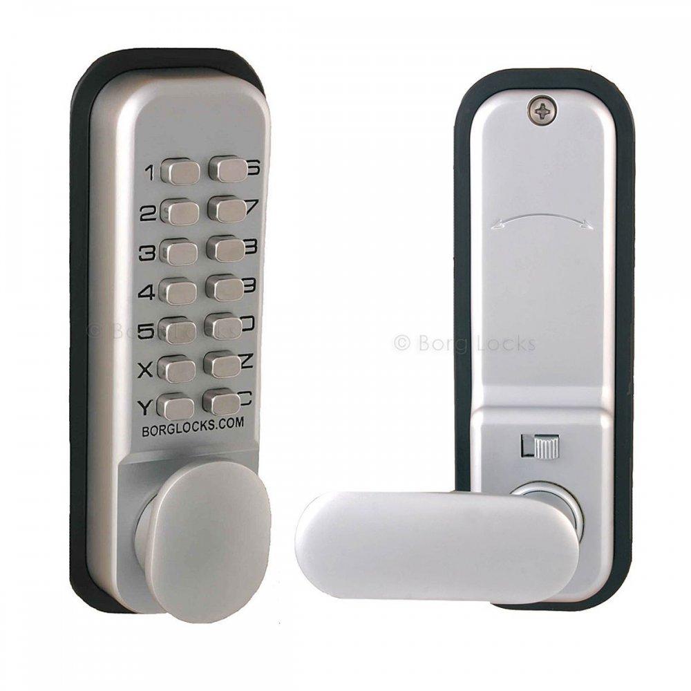 Borg 2201 Digital Push Button Door Lock with Holdback in Satin Chrome Borg Amazon.co.uk DIY \u0026 Tools  sc 1 st  Amazon UK & Borg 2201 Digital Push Button Door Lock with Holdback in Satin ...