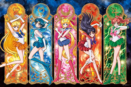 - 1000 Piece Art Crystal Jigsaw Sailor Moon Crystal Pretty Guardian (50x75cm)