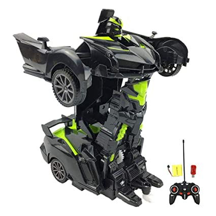 RC Transformer Robot Control Remoto Coche Juguete RC Car - One Button Deformation Robot Car,