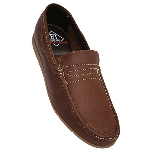 1cbe073a0fd Franco Leone Men s Brown Synthetic Loafer (202211299) - 7 UK  Buy ...