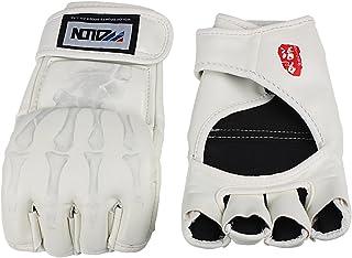 Andux Zone Gants de Boxe PU Cuir Demi-Doigt Kung Fu Fighting Muay thaïlandais Arts Martiaux des Gants d'entraînement SDST-01, 1 Paire