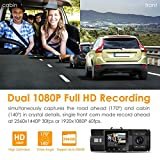 """Vantrue N2 Pro Uber Dual Dash Cam Dual 1920x1080P Front and Cabin Dash Camera (2.5K 2560x1440P Single Front) 1.5"""" 310° Car Camera w/Infrared Night Vision, Sony Sensor, Parking Mode, Support 256GB max"""