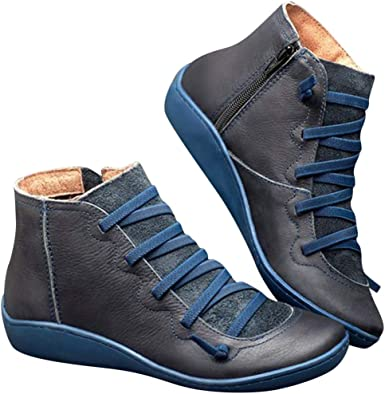 Ankle Boots for Women No Heel,2019