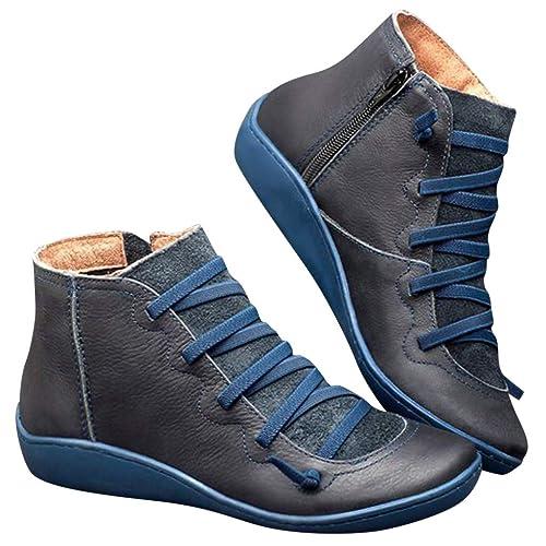 Erogance 3 cm Blockabsatz Stiefel Kunstleder Overknees Schwarz EU 42 46A3604