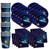 Solar System Outer Space Birthday Party Supplies Set Plates Napkins...