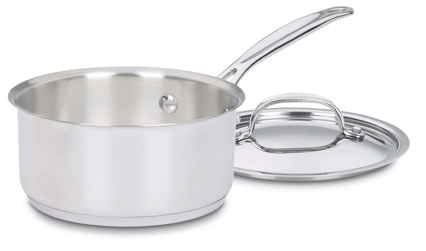 Cuisinart 719-14 Chef's Classic Stainless 1-Quart Saucepan with Cover by Cuisinart