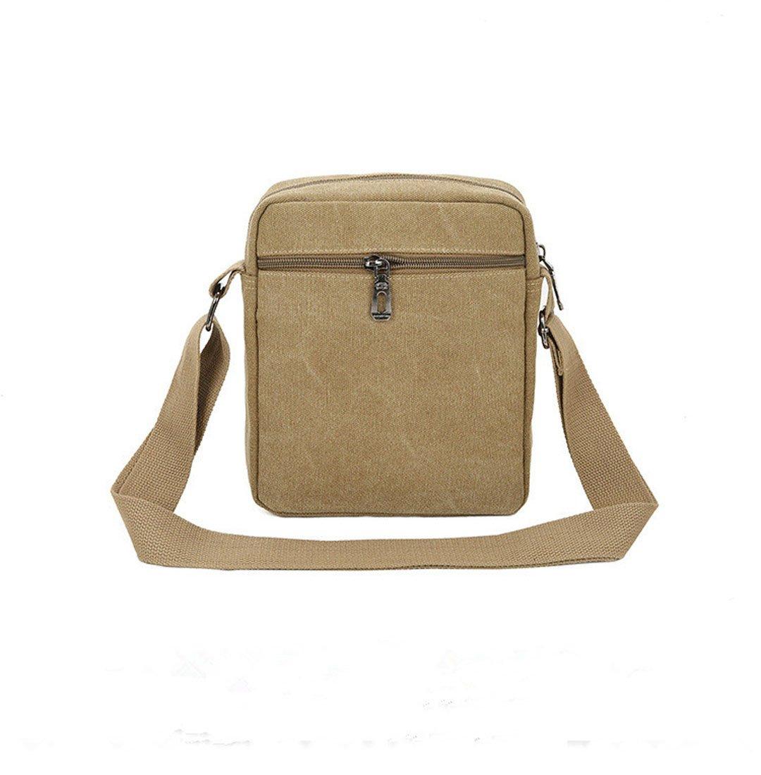 coffee YueLian Mens Canvas Multifunctional Travel School Outdoor Sport Shoulder Bag