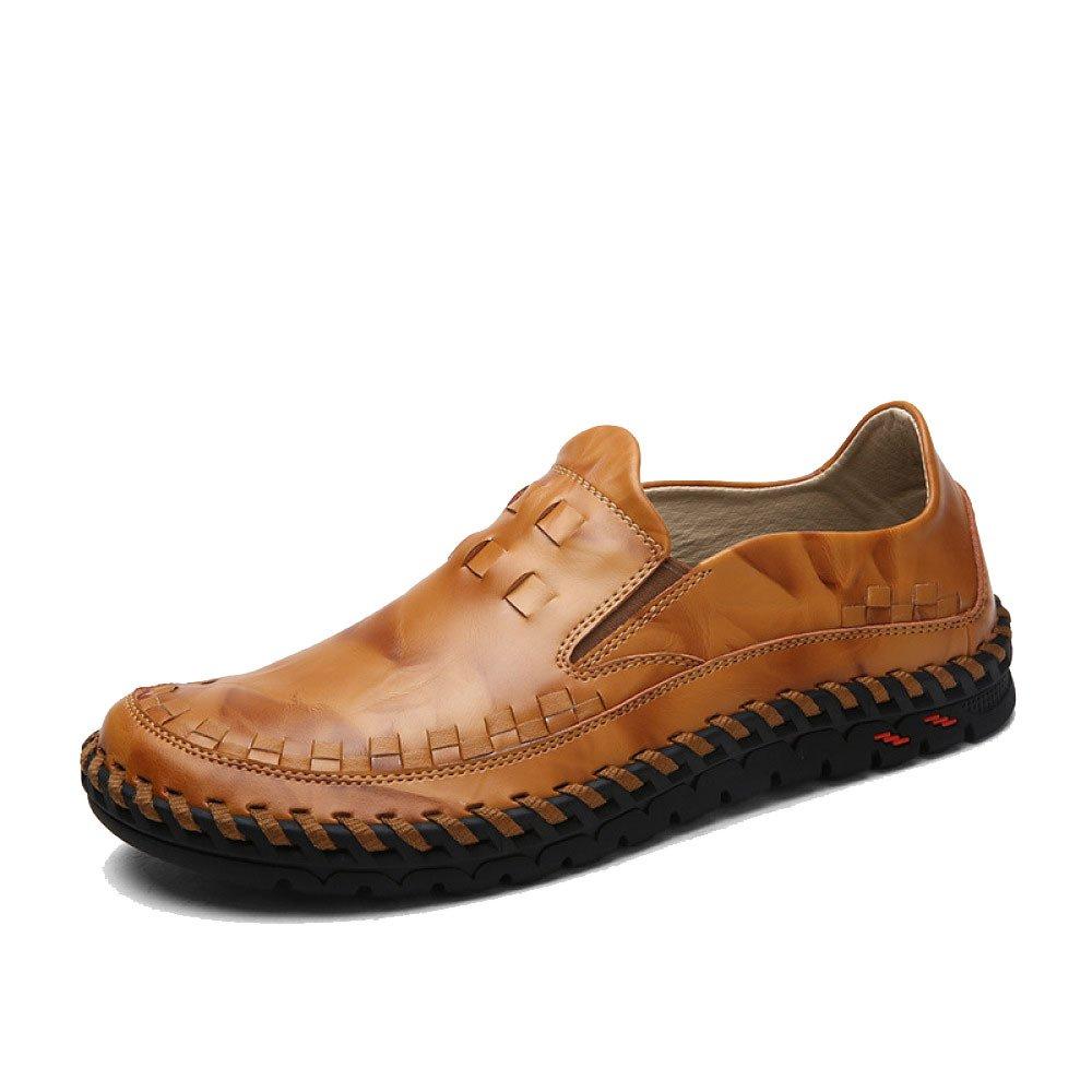 Hombres Casual Moda Suave Transpirable Juventud Conducir Zapatos De Cuero 40 EU|Brown