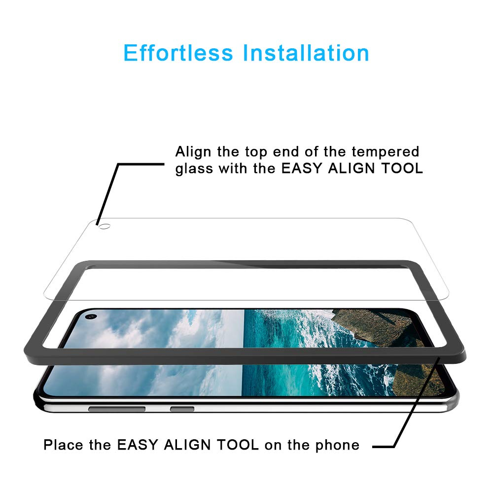 TOCOL 3 Pack Compatible with Samsung Galaxy S10e, Not for Galaxy S10 - Tempered Glass Screen Protector HD Clarity Bubble Free Easy Installation Tray