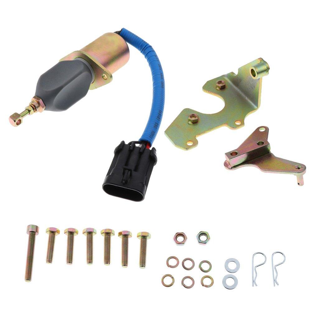 Homyl Solenoide de Apagado Kit para 94-98 5, 9L Motor Diesel Vehí culos 9L Motor Diesel Vehículos