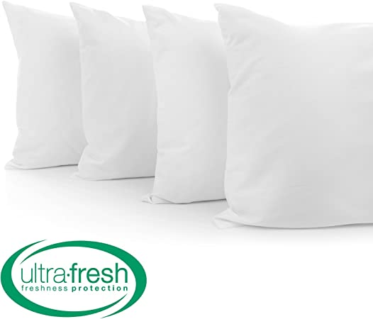 BioPEDIC 4 Pack Bed Pillows with Built