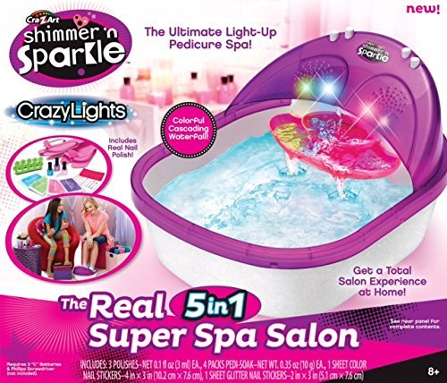 Art Shimmer N' Sparkle Super Spa Salon - Pedicure Toy Set (2 SPA)