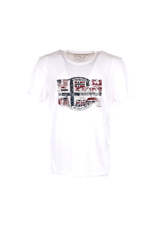 NAPAPIJRI man short sleeve t-shirt N0YI5S002 SEY BRIGHT WHITE