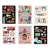 Punch Studio Stationery Travel Trip 18-ct Postcard Pad - Jetsetter