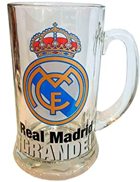 Vidrio de cerveza/jarra de cerveza oficial de Real Madrid: Amazon.es: Hogar