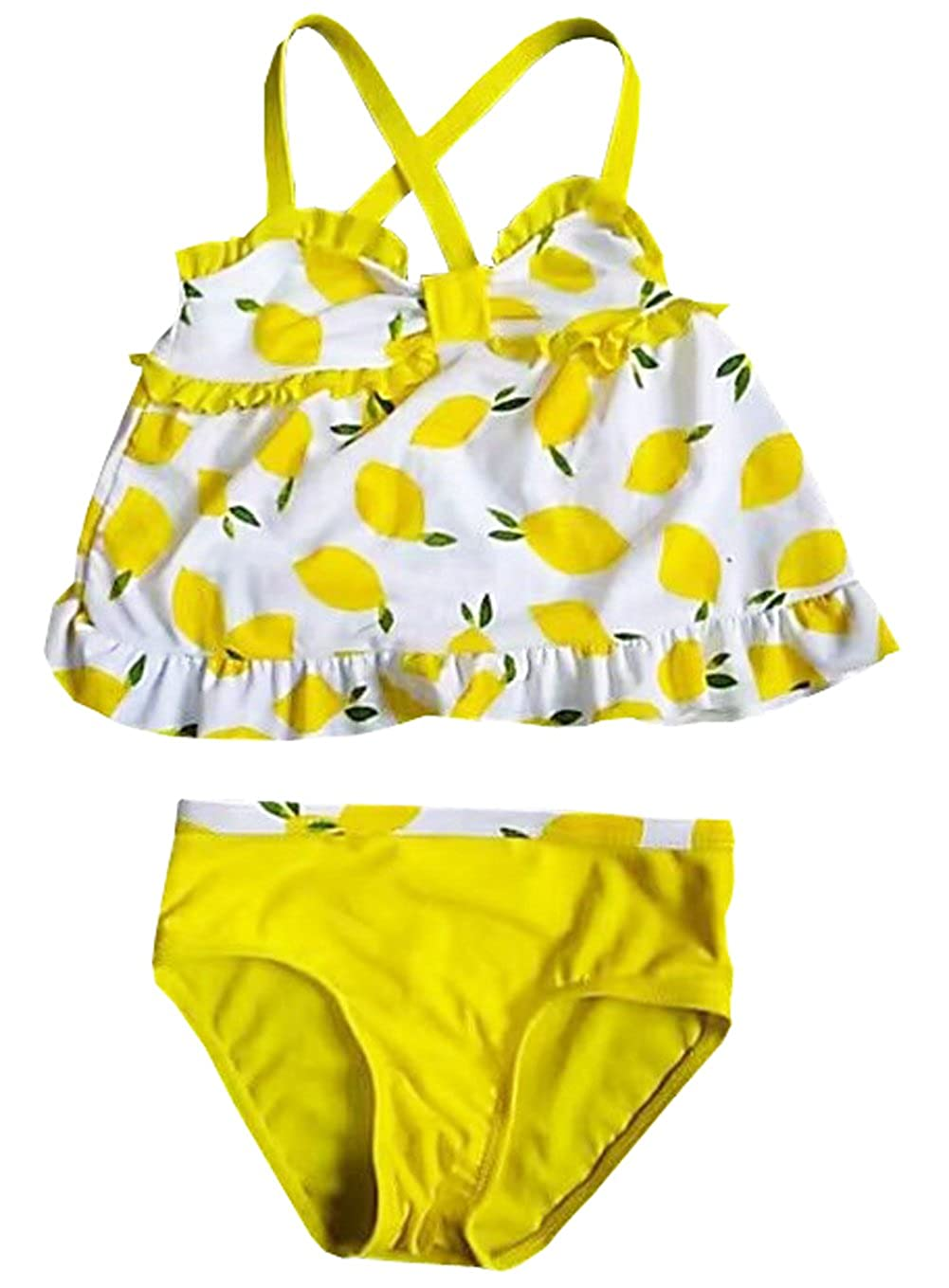 eKooBee Infant Baby Girls Swimwear Two Piece Lemon Swimsuit Tankini Set