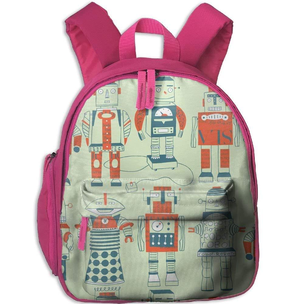 gfhfdhdfhtryh Backpack, School Backpack For Boys Girls Cute Fashion Mini Toddler Canvas Backpack, Robots FU2SVU5LNECG1EGLD6TN-1-0