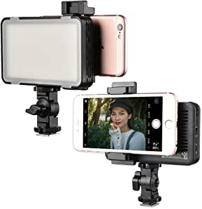 Godox LEDM150 LED Video Light Panel, Built-in Rechargeable Battery, Ultra-Thin Adjustable Mobile Phone Fill Light for DSLR Cameras, iPhone, Samsung or other Smartphone for YouTube Studio Outdoor Shoot