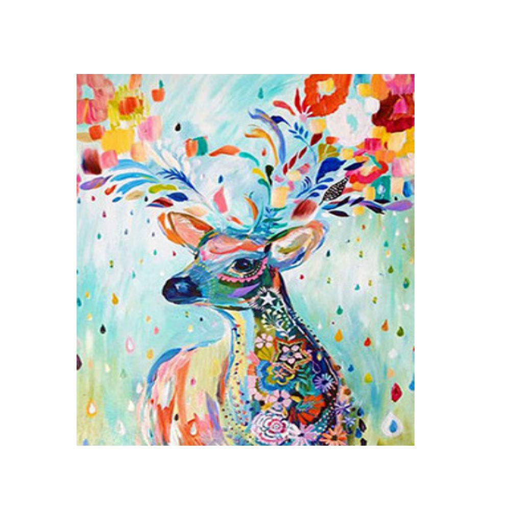 qInsSZm DIY 5D Diamond Painting Deer Rhinestone Embroidery Pictures Cross Stitch Home Wall Decor