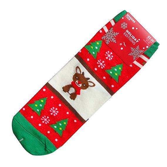 Vin beauty wlgreatsp Estilo navideño Calor de invierno Regalo de Navidad Algodón suave Calcetines lindos 1 par: Amazon.es: Ropa y accesorios
