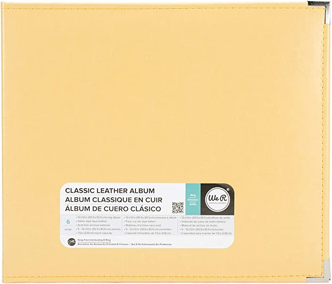 American Crafts 660908 We R Memory Keepers Classic D-Ring Scrapbooking Album 12 x 12 Grape Soda