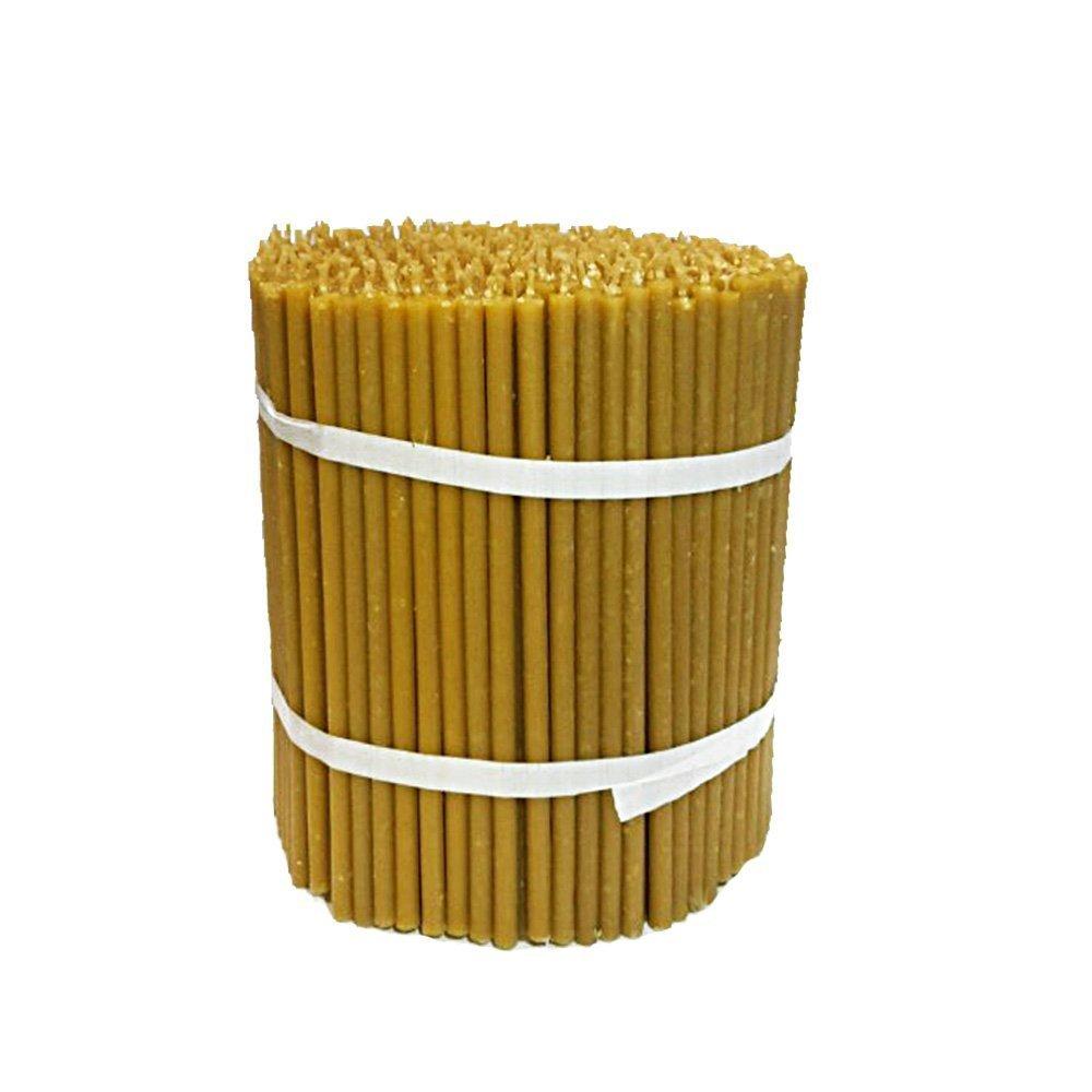 Nklaus 36261 Candele rituali di cera d'api di qualità, stile chiesa antica, 50 pezzi