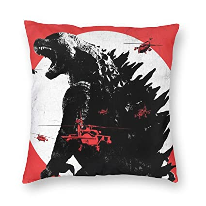 Amazon.com: Love Taste Godzilla Throw Pillow Cover Holiday ...