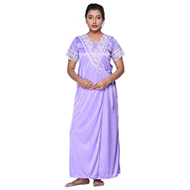 b91e4d3de5 GEMINI 8225 Mauve 2 Piece Nighty: Amazon.in: Clothing & Accessories