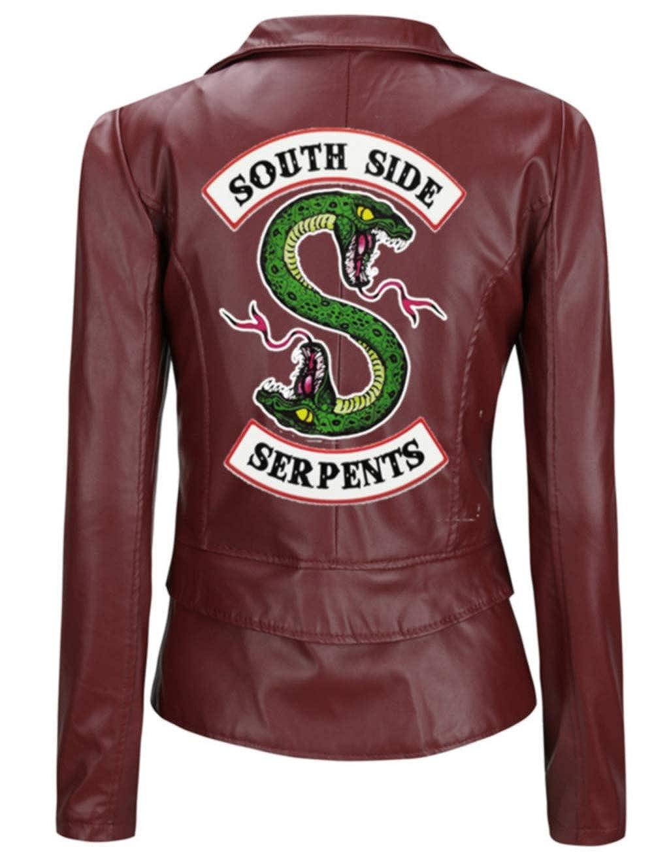 2666bf8f88453 Riverdale Veste en Cuir Serpent Femme Cuir Vernis Pull Chic Pas Cher Ado  Fille Gilet Court Blouson Manteaux Sweat-Shirt  Amazon.fr  Vêtements et  accessoires