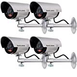 Amazon Price History for:WALI Bullet Dummy Fake Surveillance Security CCTV Dome Camera Indoor Outdoor with one LED Light + Warning Security Alert Sticker Decals WL-TC-S4, 4 Pack