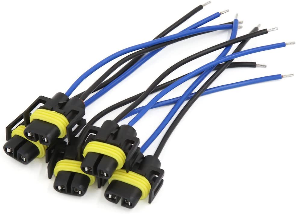 sourcingmap/® 5H11H8Phare Brouillard Lampe Adaptateur femelle C/âblage Socket connecteur