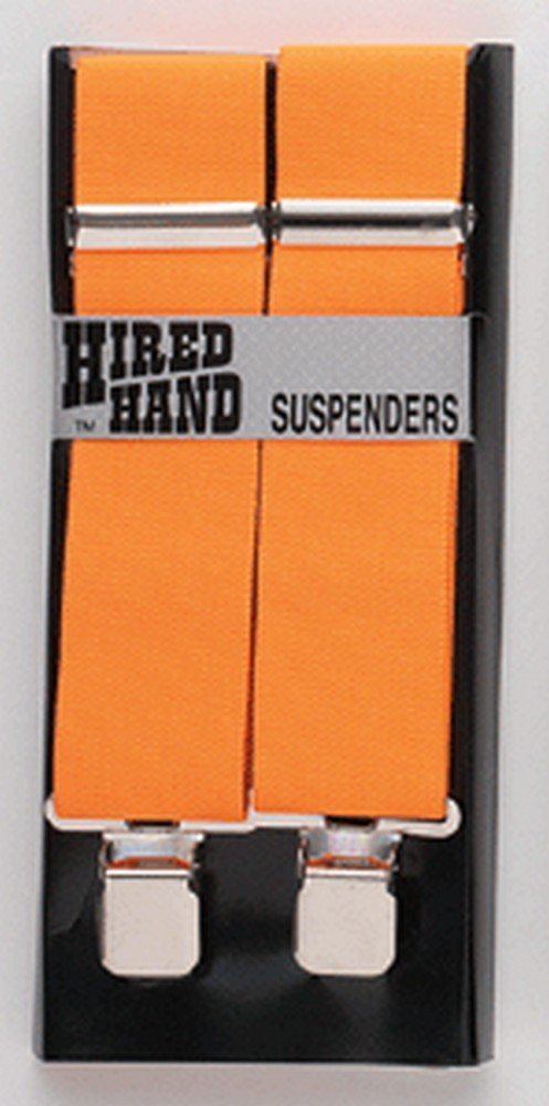 Nocona Men's Hired Hand Gripper Suspenders, Orange, OS