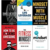 img - for Snakes in suits, life leverage, mindset with muscle, how to be fucking awesome, fitness mindset and mindset carol dweck 6 books collection set book / textbook / text book
