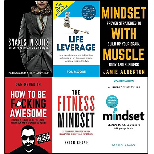 Price comparison product image Snakes in suits,  life leverage,  mindset with muscle,  how to be fucking awesome,  fitness mindset and mindset carol dweck 6 books collection set