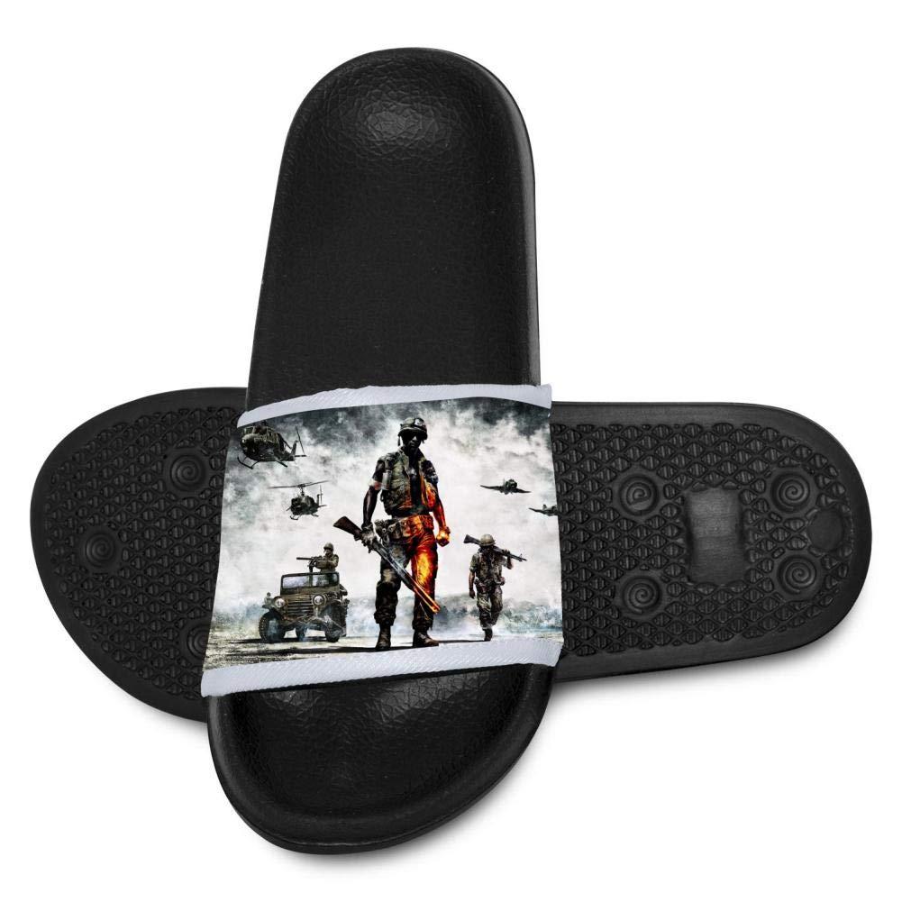Battle-Field Youth Bath Slipper Anti-Slip for Indoor Home House Sandal 4 B(M)
