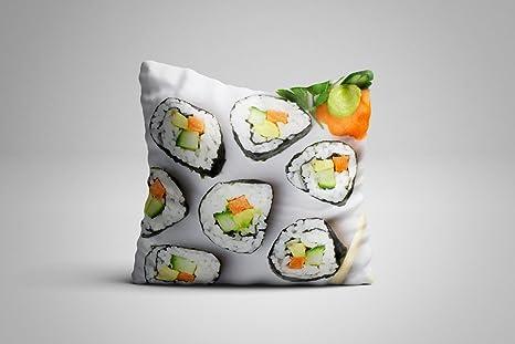 Wayshop Cojín Sushi   Bonito Cojín con Imagen Sushi   Imagen ...