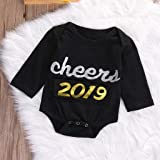 Qpika Newborn Letter New Year's Outfits Romper