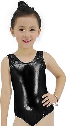 speerise Gymnastics Dance Metallic Tank Leotard for Girls from Toddler to Teenager