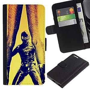 KingStore / Leather Etui en cuir / Apple Iphone 6 PLUS 5.5 / Bdsm Maks Hombre Mujer Pintura Piernas Arte