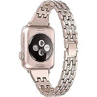 nobranded Compatibel met Apple Watch Band 38/40/42/44mm, SUNEVEN Strass Metalen Sieraden Polsband Bling Diamond Vervangende Band voor iWatch Armband Series 5/4/3/2/1