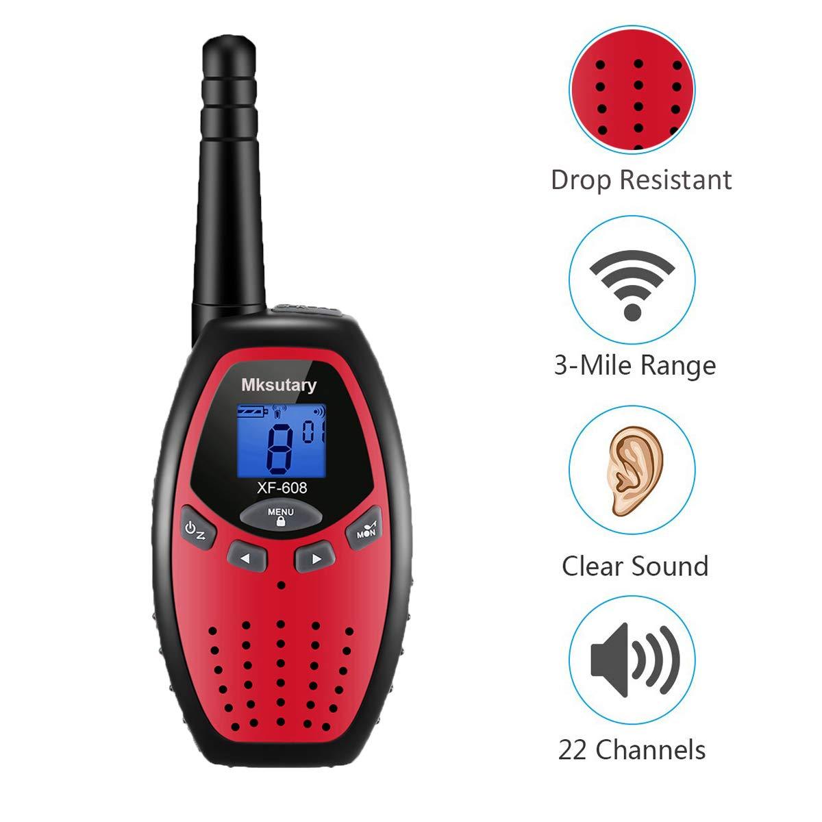 Walkie Talkies 22 Channel Two Way Radios Handheld 2 Pack Long Range Walkie Talkies for Kids Adult Boys Walkie Talky Outdoor Adventures Camping by Mksutary (Image #3)