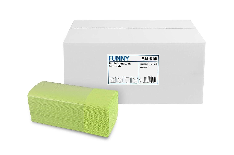 Funny Papierhandtuch Zz V Falz 25 X 23 Cm 2lag Grün 4000 Blatt 1er Pack 1 X 1 Stück Gewerbe Industrie Wissenschaft