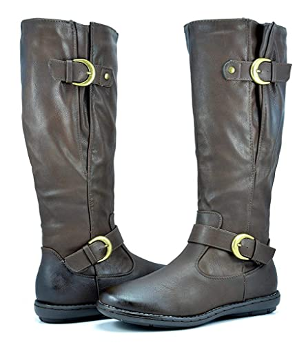 f5ce1a2c7070a DREAM PAIRS Women's Fur-Lined Knee High Winter Boots Wide Calf