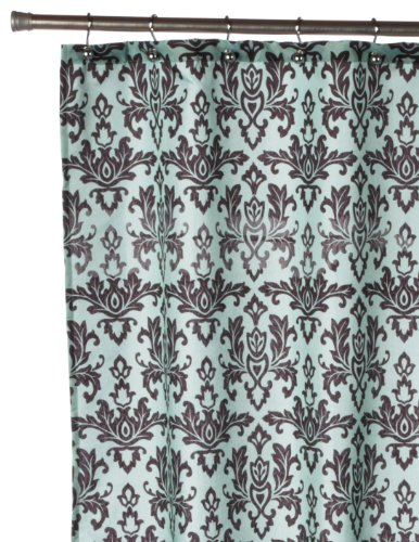 Amazon Carnation Home Fashions Damask Fabric Shower Curtain Chocolate On Green Kitchen