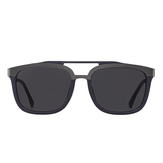 Lunettes de soleil polarisées pour hommes, carré unisexes femmes lunettes de soleil uv400 Kennifer (Brown)
