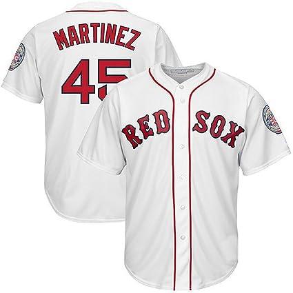 Baseball-Cool-Jersey Los hombres de la # 45 Pedro Martinez béisbol camiseta blanco
