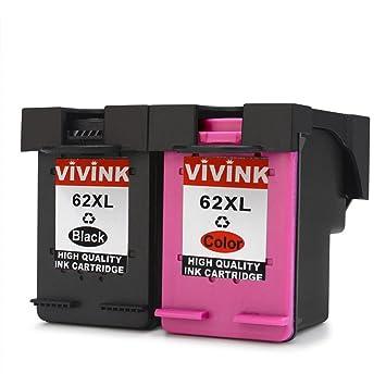 vivink 2 unidades, 62 x l de alto rendimiento negro Cartucho de ...